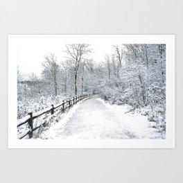 Snowfall at Brickworks on Christmas Day, 2020. LXXXII Art Print