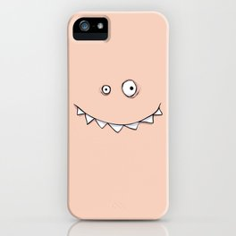 Happy Pink Monster iPhone Case