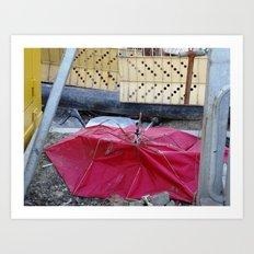Umbrella Blues 2 Art Print