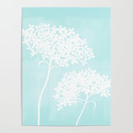 Queen Anne's Lace Blue Poster