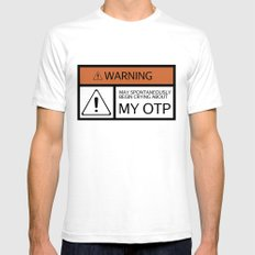 WARNING - My OTP White Mens Fitted Tee SMALL