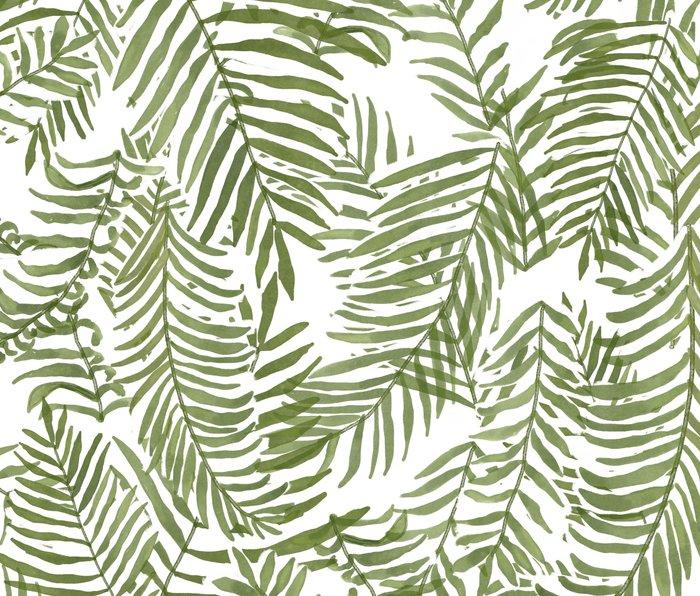 Areca Palm Pattern Metal Travel Mug