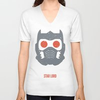 star lord V-neck T-shirts featuring Star-Lord by d00d it's jake