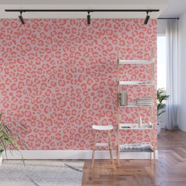 Coral Leopard Print - Living Coral design | Girly Pastel Cheetah Wall Mural