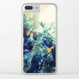 Sunny Blue Clear iPhone Case