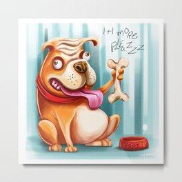 Pet-Dog-Rapo. Metal Print