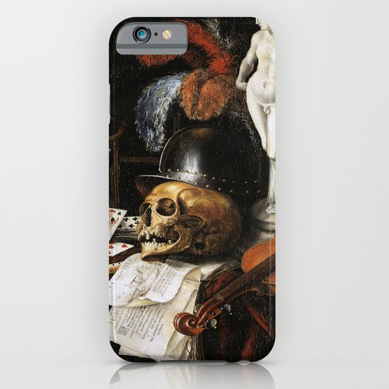 Vintage Vanitas- Still Life with Skull 3 iPhone & iPod Case