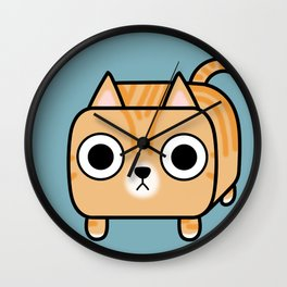 Cat Loaf - Orange Tabby Kitty Wall Clock