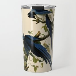 Columbia Jay Illustration by J.J. Audubon Travel Mug