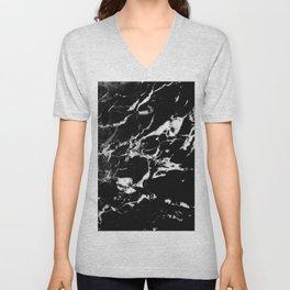 Black Marble #13 #decor #art #society6 Unisex V-Neck