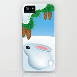 Winter bunny iPhone Case