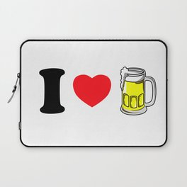 I Heart Beer Laptop Sleeve