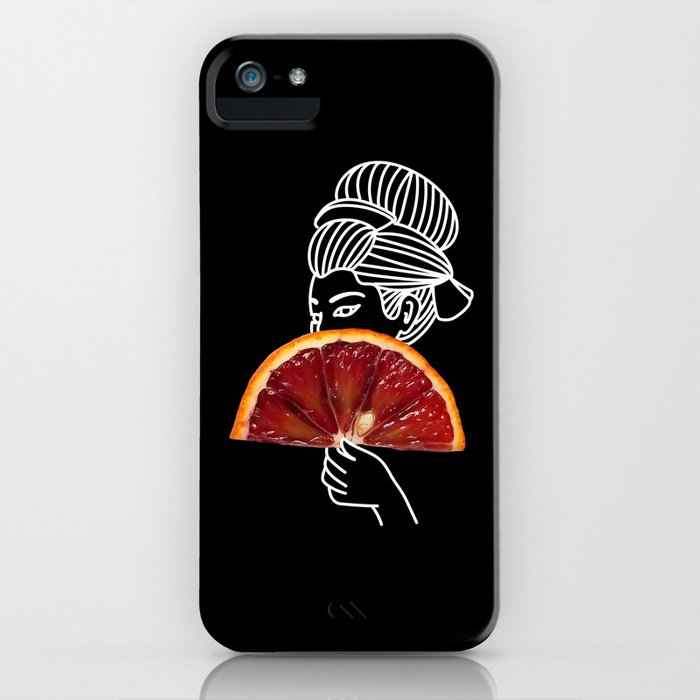 Blood Orange Geisha iPhone Case