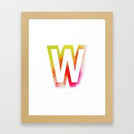 Unconventional alphabet Framed Art Print