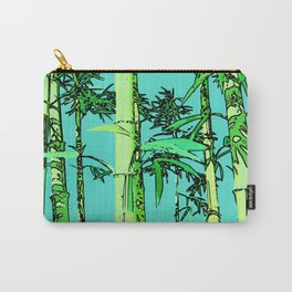 Bamboo cartoonized Carry-All Pouch