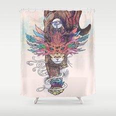 Journeying Spirit (Mountain Lion) Shower Curtain