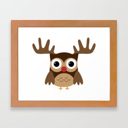Reindeer Owl Framed Art Print
