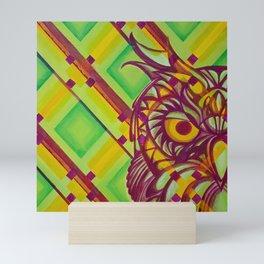 Green Owl Mini Art Print