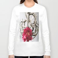 antler Long Sleeve T-shirts featuring Antler Flower by Jodi Kassowitz Photography