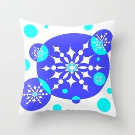 A Delightful Winter Snow Design Throw Pillow