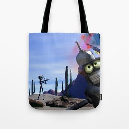 lost in middle of desert, looking for a f**ken Taxi Tote Bag