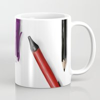 write Mugs featuring Write by Azupcsan