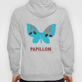 Papillon, Steve McQueen vintage movie poster, retrò playbill, Dustin Hoffman, hollywood film Hoody