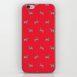 Red Zebras iPhone Skin