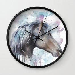 Watercolor Horse Head Wall Clock