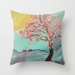 Stream Bloom Throw Pillow