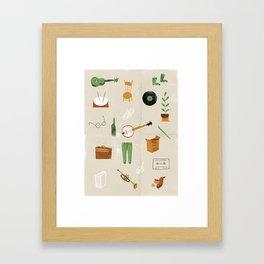Music & Things Framed Art Print