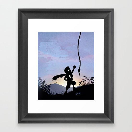 Super Kid Framed Art Print