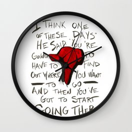 The Catcher In The Rye - Holden's Red Hunting Cap Wall Clock