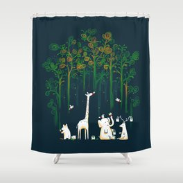 Re-paint the Forest Shower Curtain