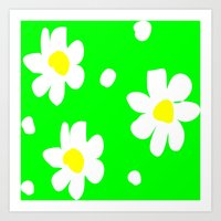 daisies Art Prints featuring Daisies by Vitta