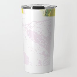 Abstract Border Travel Mug