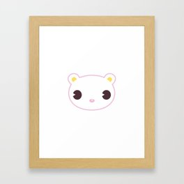 Kawaii Animals - Bear Framed Art Print