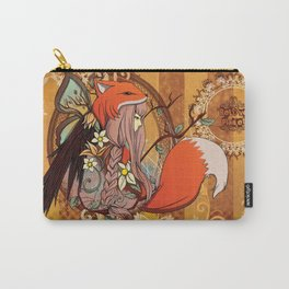 Fox Girl -- One with Nature Carry-All Pouch