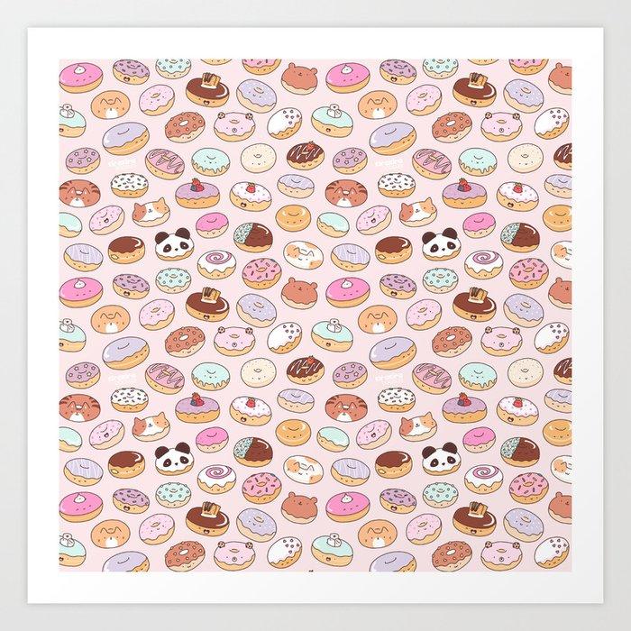 Mmm... Donuts! Art Print