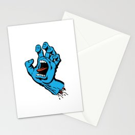 Skatebaording Screeming Hand Blue Stationery Cards