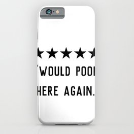 Would poop here again iPhone Case