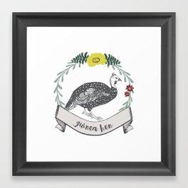 Illustrated Bird - Hen Framed Art Print