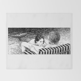 asc 793 - Le rivage de velour (Dive in a velvet slide) Throw Blanket