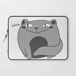 Fat Cat with a Smug Face Laptop Sleeve