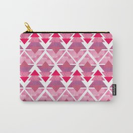 Pink Geometric Forest Carry-All Pouch