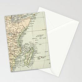 Vintage Map of Africa Stationery Cards