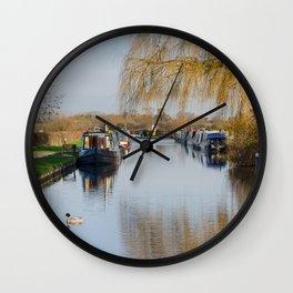 Canal at Alrewas Wall Clock