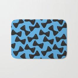 Bow Pattern - Gothic Blue Bath Mat