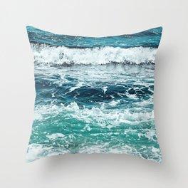 Ocean Rainbow Throw Pillow