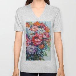 Beautiful Blooms Unisex V-Neck